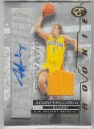 2007-08 Bowman Elevation Rookie Writings Relics Hornets Card #RWAH Adam  Haluska   eBay