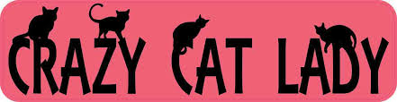 8in X 2in Crazy Cat Lady Bumper Sticker Vinyl Car Window Decal Stickers Stickertalk