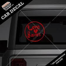 Love Saves Christian Decal Car Sticker Christiantshirtguy Com
