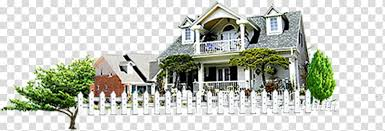 White Home Fence Building Transparent Background Png Clipart Hiclipart