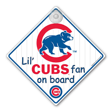 Chicago Cubs Car Window Baby On Board Sign Infant Baby Month Stickers Window Baby Baby Time