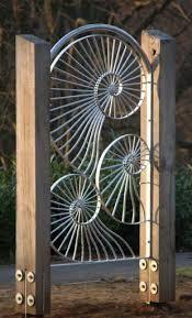 Ammonite Shell Inspired Gate Fence Garden Gates Backyard Fences Metal Art