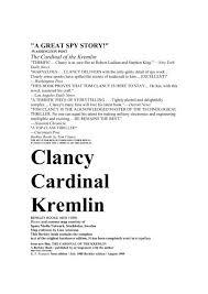the cardinal of the kremlin skynet