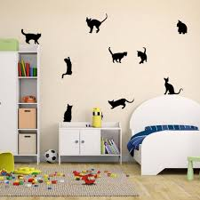 Amazon Com Amaonm Removable Diy Cute Cartoon Black Cat Wall Decor Kids Room Wall Sticker Lovly Playing Cat Wall Decals Peel Stick For Girls Children Bedroom Classroom Nursery Room Wall Corner 3057cm Baby