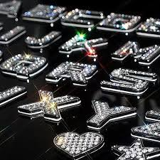 3d Bling Emblem Sticker Alphabet Letters And Numbers With Rhinestones Carsoda