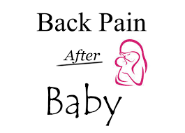 back pain after baby 3 easy exercises