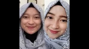 tutorial make up dan hijab simple