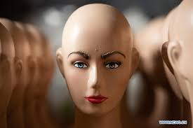in pics mannequins after makeup at