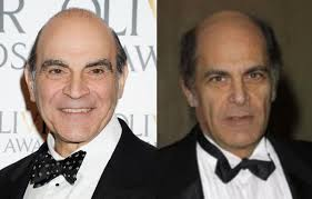 It's very easy to confuse David Suchet (L) with Alan Rachins (R ...