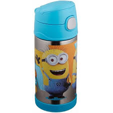 Shop Thermos Funtainer Steel Water Bottle With Straw 12 Oz Minions On Sale Overstock 23118182