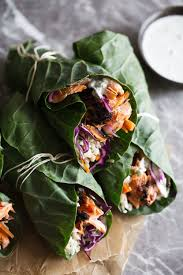 Grilled BBQ Salmon and Veggie Collard ...