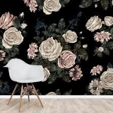 pastel pink rose wall mural wallsauce uk