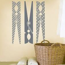 3pcs Large Clothespins Laundry Room Wall Sticker Laundry Room Washroom Clothespins Wall Decal Kitchen Living Room Vinyl Decor Wall Stickers Aliexpress