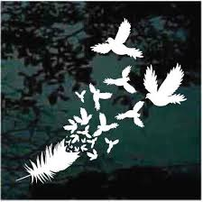 Feather Car Decals Stickers Decal Junky