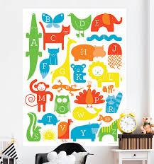 Oopsy Daisy Abc Animalia By Ampersand Design Studio 54 X 72 Wall Mural Wayfair