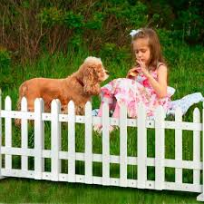 Brylanehome Expandable White Picket Fence Pet Gate Bobby J Williamsey