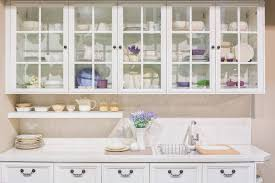 glass front cabinets kitchen cabinets