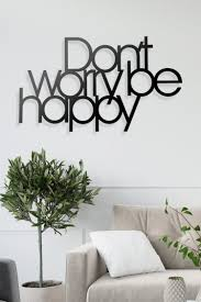 Dont Worry Be Happy Metal Wall Art
