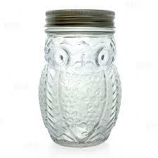 owl mason jar with lid 12 ounce