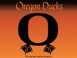 Oregon Ducks O Sports Logo With Duck Feet State Vinyl Window Etsy