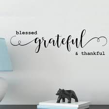 Blessed Grateful And Thankful Vinyl Wall Decal Walmart Com Walmart Com
