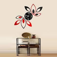 Fashion Home Decal Art Mural Lotus Diy 3d Acrylic Mirror Sticker