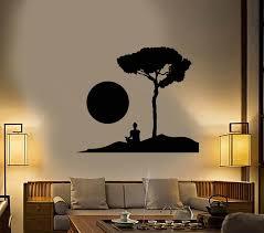 Vinyl Wall Decal Buddhism Monk Yoga Meditation Buddhist Stickers 2564 Wallstickers4you