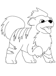 Pokemon Coloring Pages Growlithe Kleurplaten Pokemon