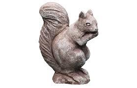 8 standing squirrel outdoor statue