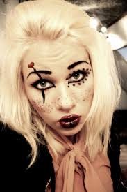 gothic rag doll makeup tutorial