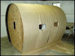 has anybody made haybale blinds