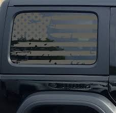 Jeep Wrangler Jk Jl American Flag Window Hardtop Set Vinyl Decal Jeep Wrangler Decal