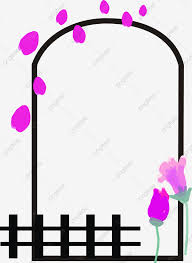 Purple Garden Fence Flower Vine Border Purple Flowers Fence Garden Png Transparent Image And Clipart For Free Download