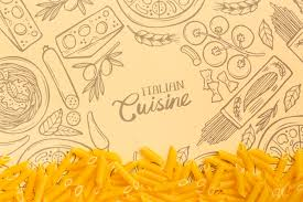 wallpaper with tasty pasta free psd file