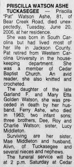 Priscilla Hortense Watson Obituary pg 01 - Newspapers.com