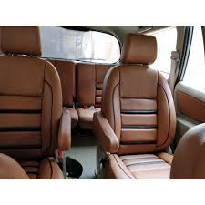 pu leather brown car seat cover rs