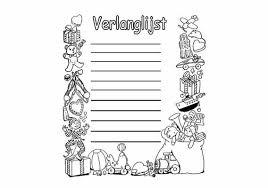 Sinterklaas Kleurplaat Sint Verlanglijst Medium De Mooiste