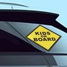 Kids On Board Vinyl Decal Car Window Bumper Sticker Child Safety Sign Sale Banggood Com