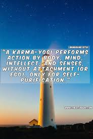 a karma yogi perfomes action by body mind intellect and sense