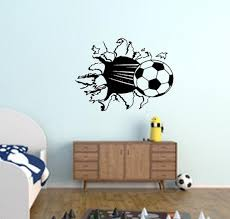 Soccer Decal Soccer Wall Decal Game Room Decal Boys Room Etsy