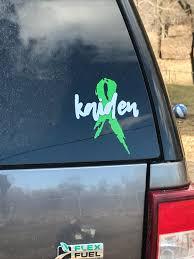 Awareness Ribbon Decal Etsy