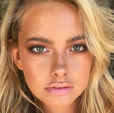 natural bronze makeup look saubhaya