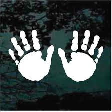Feet Print Hand Print Car Decals Stickers Decal Junky