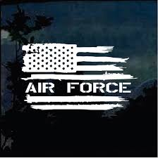 Air Force Weathered American Flag Military Window Decal Stickers Custom Sticker Shop