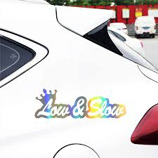 Car Sticker Vinyl 17 8cm 6 1cm Low And Slow Funny Jdm Vinyl Decal Sticker Window Car Stickers And Decals Car Styling Accessories Car Stickers Aliexpress