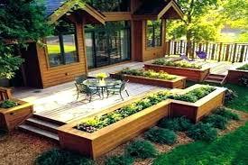 teak planter box in china deck garden