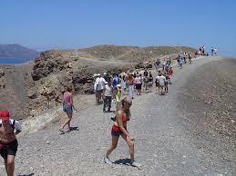 santorini volcano tour trip to the
