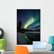 Amazon Com Wallmonkeys Northern Lights Over Portage River Valley Sc Alaska Wall Decal Peel And Stick Graphic Wm183002 24 In H X 16 In W Home Kitchen