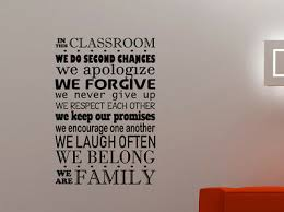 In This Classroom Wall Decal School Inspirational Quotes Vinyl Sticker Decor 4qz Ebay