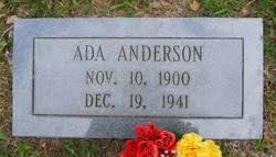 Ada Kennedy Anderson (1900-1941) - Find A Grave Memorial